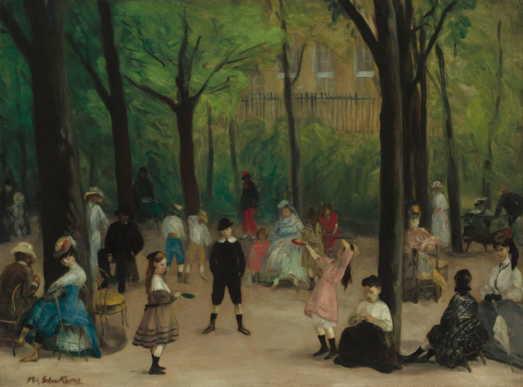 William James Glackens (American, 1870 - 1938 ), Luxembourg Gardens, 1906, oil on canvas, Corcoran Collection (Museum Purchase, William A. Clark Fund) 2014.79.47